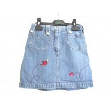 Юбка с вышивкой джинсовая на 5-6 лет