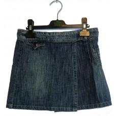 Юбка с запахом джинсовая