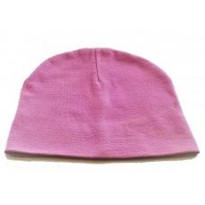 Шапка розовая трикотажная