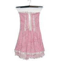 Платье розовое праздничное на косточках