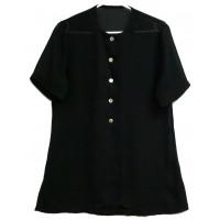Блуза удлиненная черная