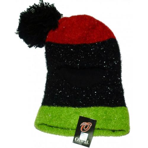 Шлем Oswal с красным верхом