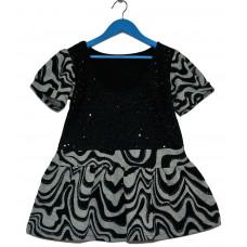 Блуза трикотажная с блестками