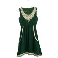Сарафан зеленый